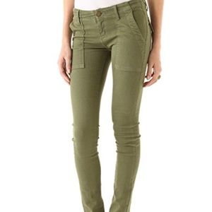 Current/Elliot combat skinny green army jeans